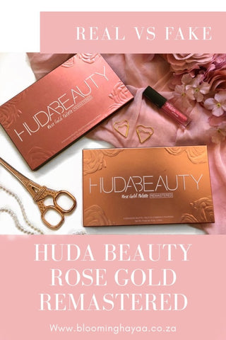 Huda Beauty Rose Gold Remastered Comparison Real vs Fake