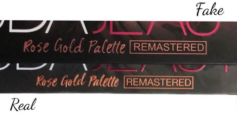 font comparison on palettes huda rose gold remastered real vs fake