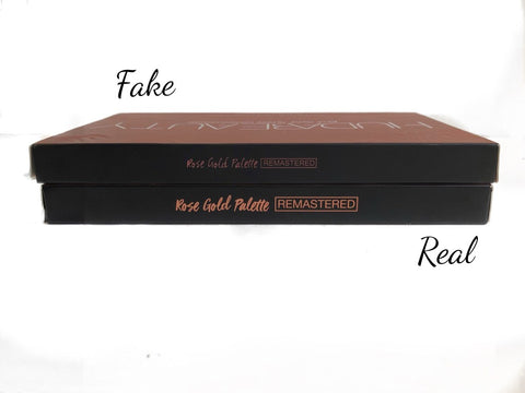 text comparison rose gold remastered real vs fake