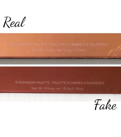 wording comparison rose gold remastered real vs fake