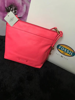Fossil Crossbody Handbag - Neon Coral - mystic-beauty-international-make-up-store
