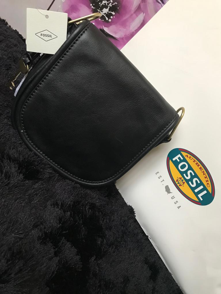 Fossil Crossbody Handbag - Black - mystic-beauty-international-make-up-store