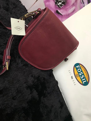 Fossil Crossbody Handbag - Cabernet (Maroon) - mystic-beauty-international-make-up-store
