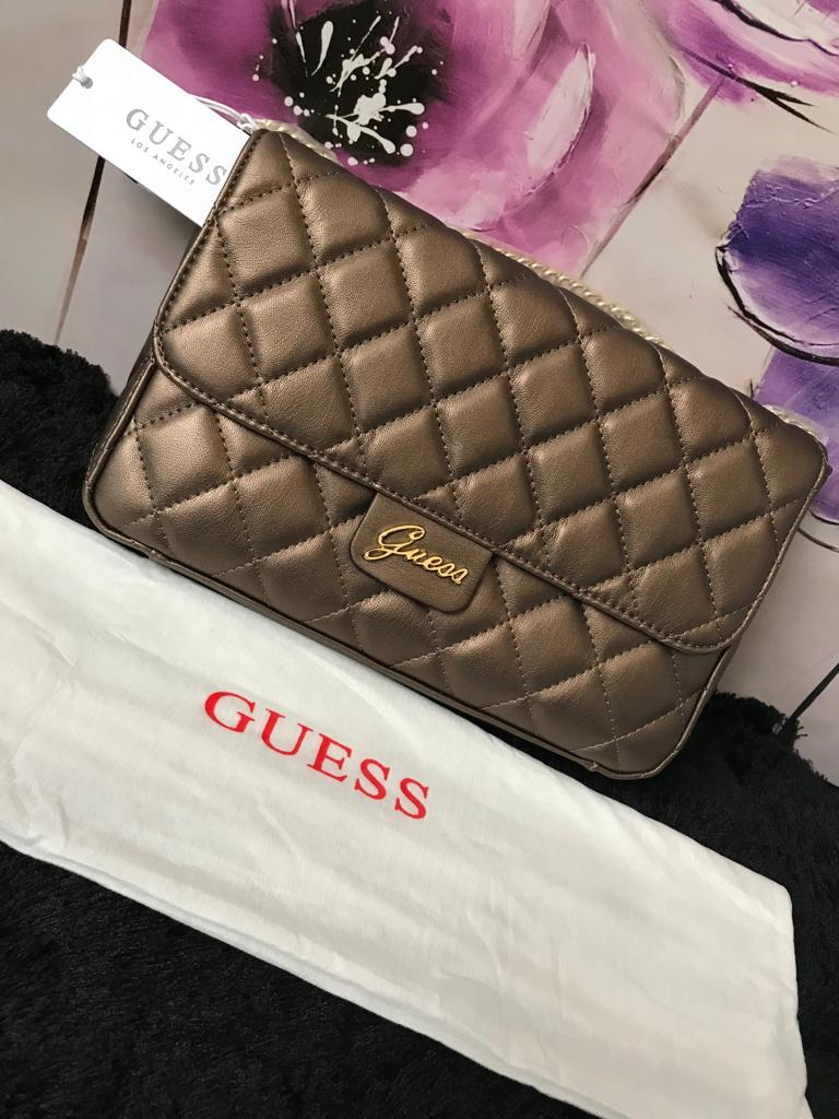 Guess Handbag - Bronze Quilt - mystic-beauty-international-make-up-store