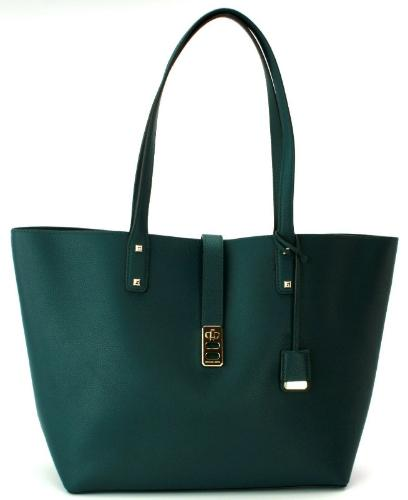 Michael Kors Leather Deep Teal Large Karson Tote Handbag - mystic-beauty-international-make-up-store