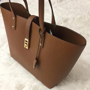 Michael Kors Leather Tan Large Karson Tote Handbag - mystic-beauty-international-make-up-store