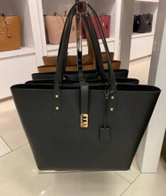 Load image into Gallery viewer, Michael Kors Black Leather Large Karson Tote Handbag
