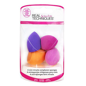 Real Techniques 4 Mini Miracle Complexion Sponges - mystic-beauty-international-make-up-store