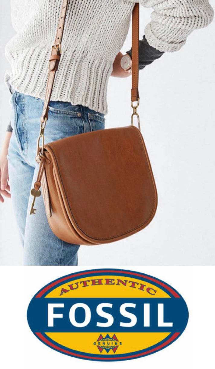 Fossil Crossbody Saddle - Tan (Big)