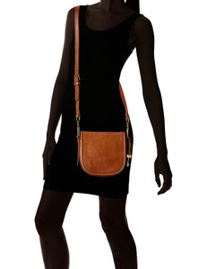 Fossil Crossbody Saddle Handbag - Tan (small)