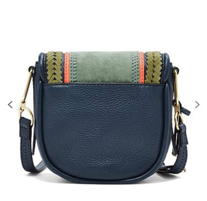 Fossil Crossbody Handbag - Navy Multistripe