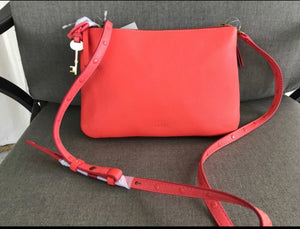Fossil Crossbody Handbag - Lava Double Zip