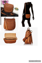 Load image into Gallery viewer, Fossil Crossbody Saddle Handbag - Tan (small)