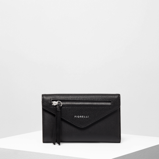 Fiorelli Nicholl Black purse- zip detail - mystic-beauty-international-make-up-store