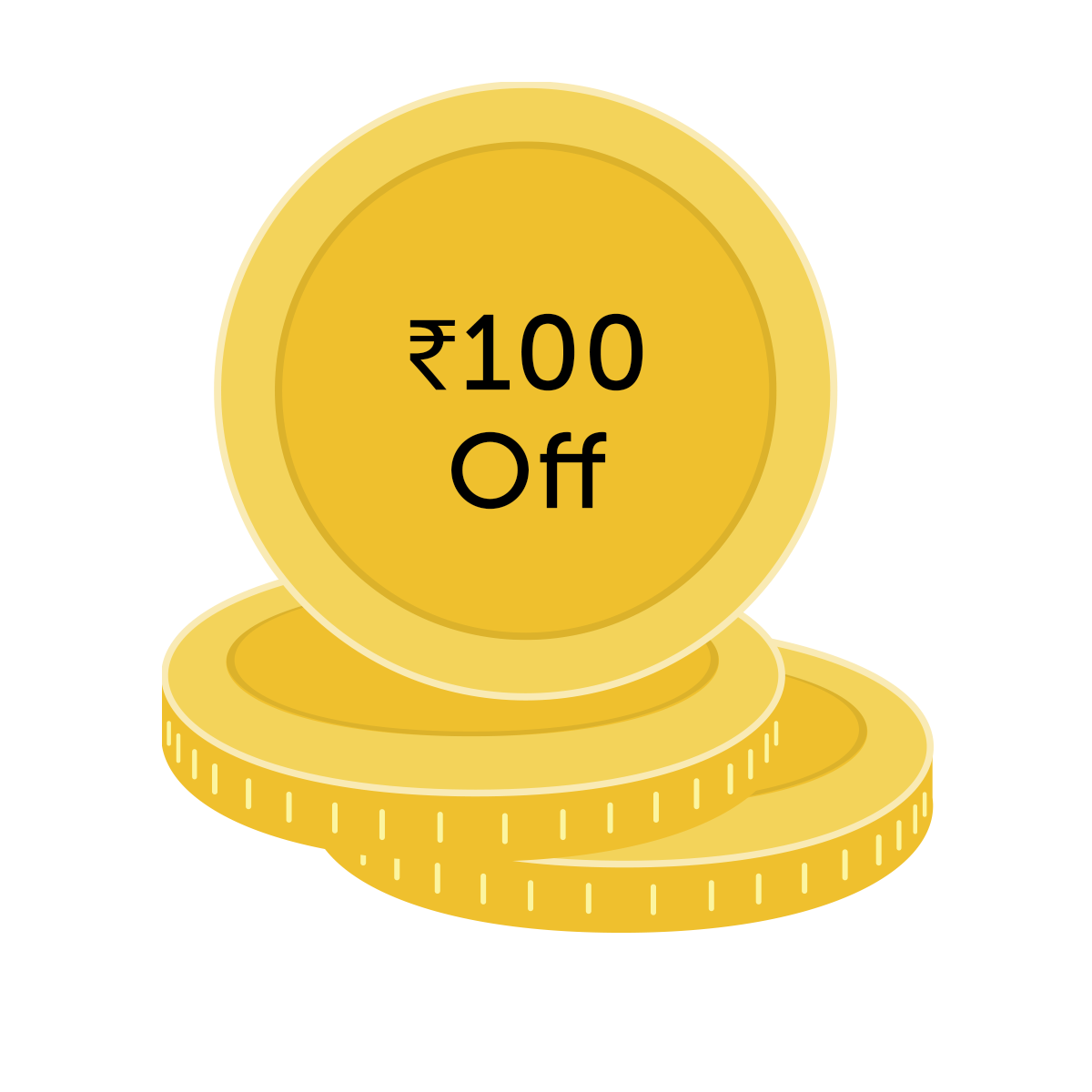 ₹100 off coupon for 1000 Coins