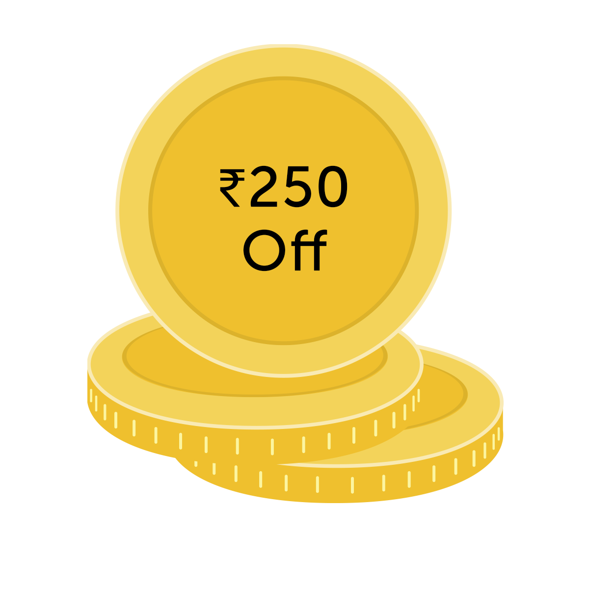 ₹250 off coupon for 2500 Coins