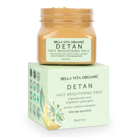 De Tan Removal Face Pack For Glowing Skin, Oil Control, Acne, Pimples, Blemishes, Pigmentation & Brightening