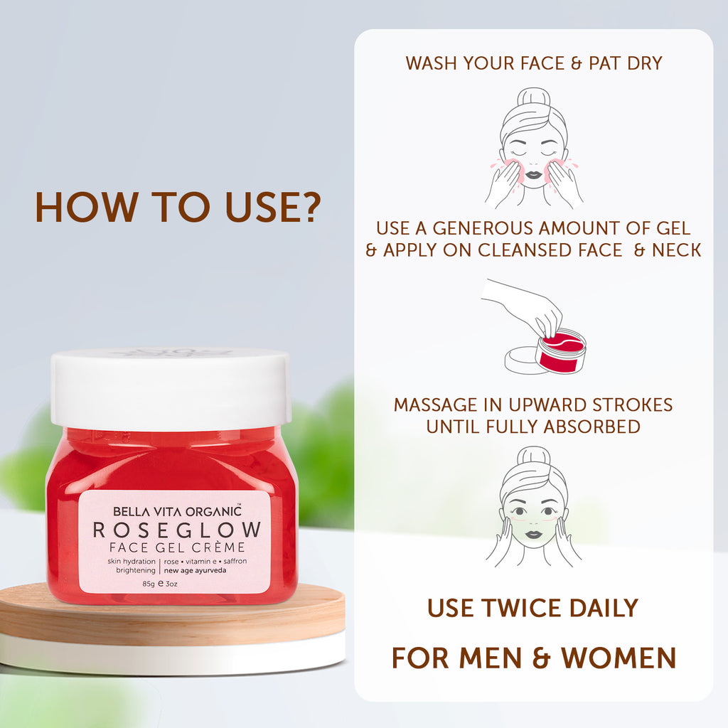 Day & Night Face Care Routine Combo - Face Wash + Glowner + NicoBalm + EyeLift + Rose Glow Gel)