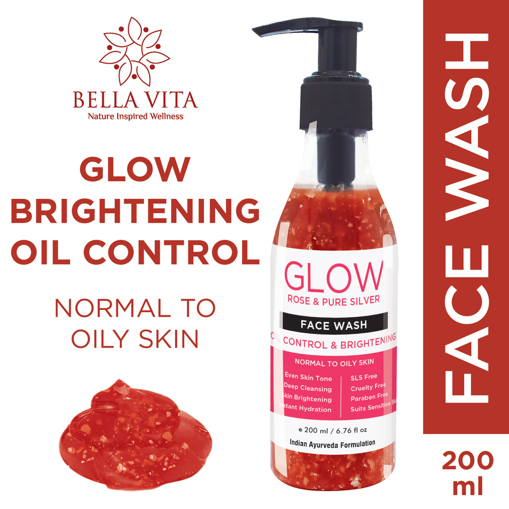 Bella Vita Organic Rose Face Wash For Oily Skin To Dry Skin, 200ml