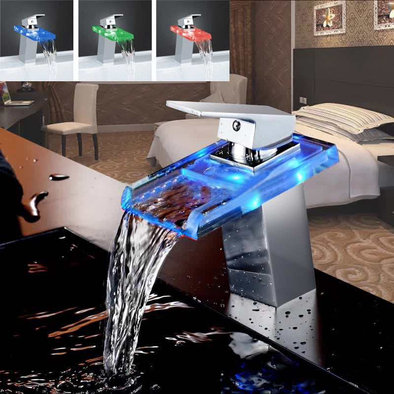 Bathroom Waterfall LED Colored Faucet - TheGood_Market