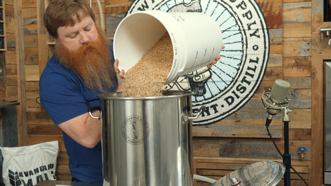 Mashing in - pale ale grain bill