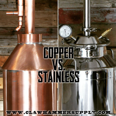 Stainless steel still vs copper still distilling