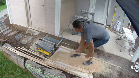 using a table saw to cut interior trim pieces
