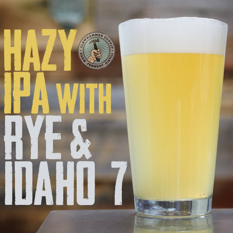 homebrew session beer recipe: Hazy IPA with Rye and Idaho 7 hops