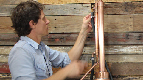 Install the Copper Condenser