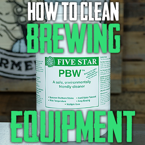 how to clean brewing equipment for homebrewing