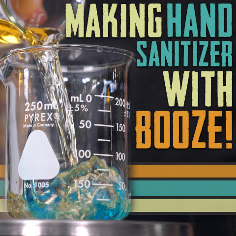 how to make hand sanitizer with booze