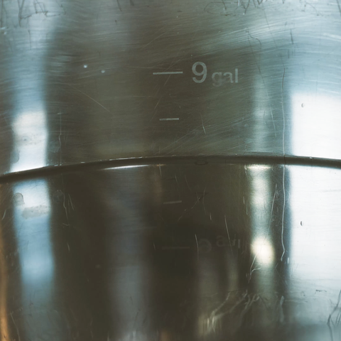 gallon markers inside of kettle