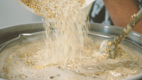 mashing in and stirring