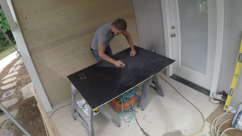 sanding first layer of chalkboard paint