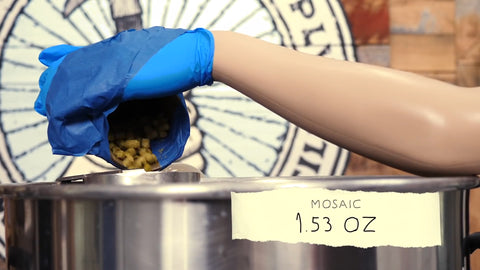 Adding mosaic hops for a whirlpool addition
