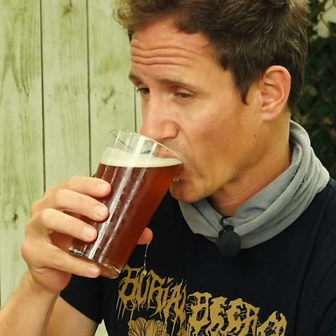 tasting the finished beer