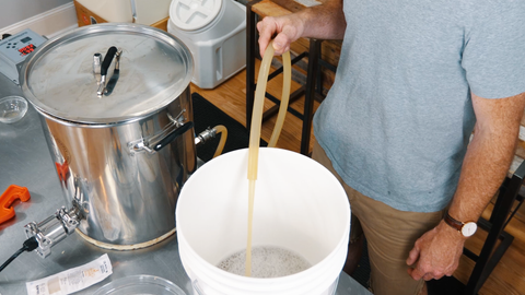 transferring wort to a fermenter