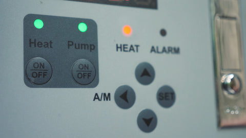 heat and pump buttons turned on