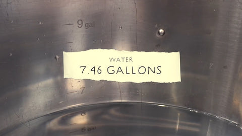 7.46 gallons of water in kettle