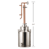 8 Gallon Stainless / Copper Distiller - Limited Supply