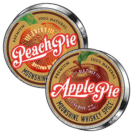 Apple & Peach Pie Moonshine Spice Combo