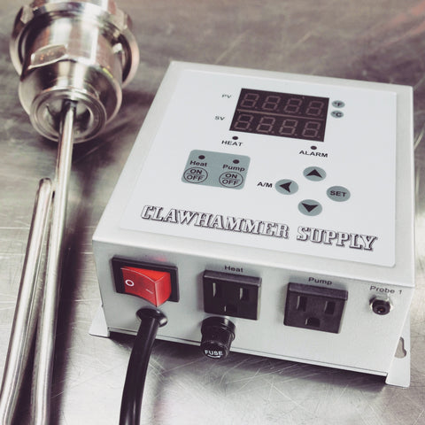 120V Controller and Element for Stainless Stills and Brew System