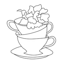 Load image into Gallery viewer, Floral Teacup Stack