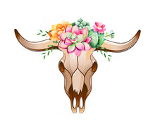 Load image into Gallery viewer, Floral Steer Head