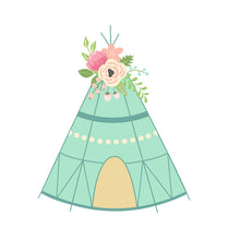 Load image into Gallery viewer, Floral TeePee
