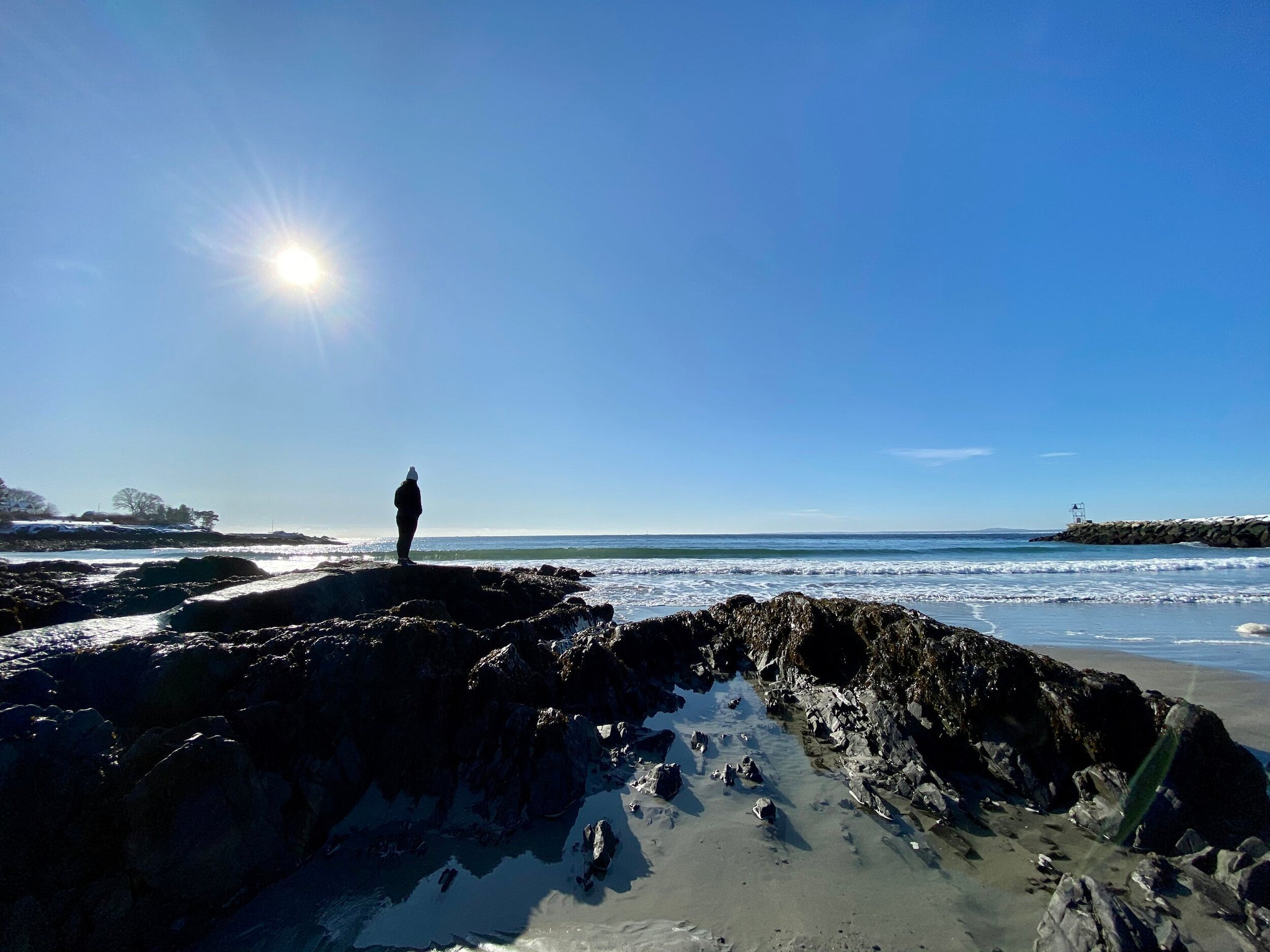 Kennebunkport Maine Sea Coast Beach