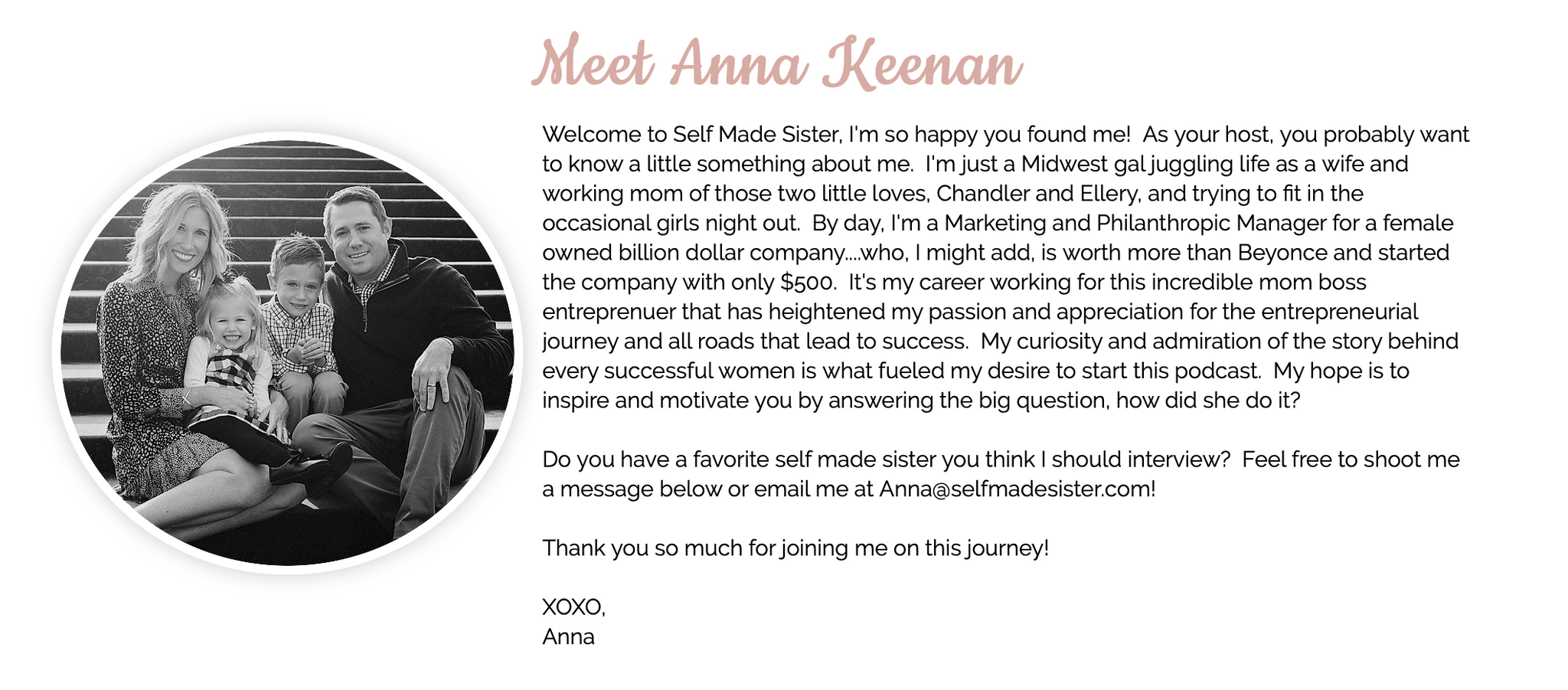 Anna Keenan Self Made Sister Podcast About Bio