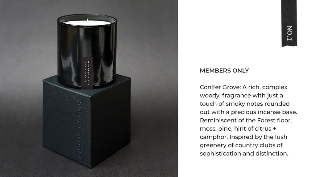 Hudson Candle Members Only Conifer Grove Candle Fathers Day Gift