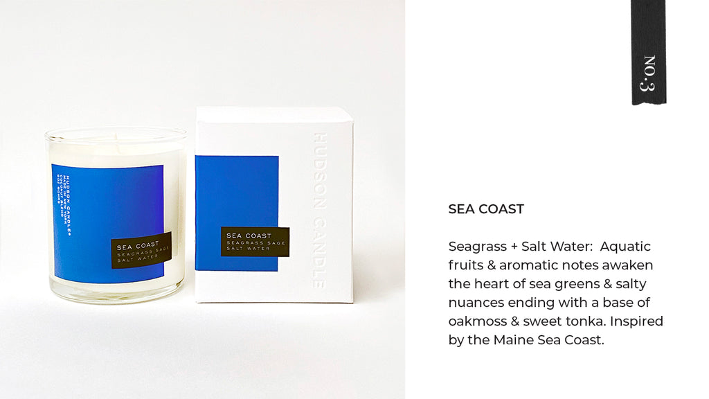 Hudson Candle Sea Coast Ocean Beach Salt Candle Fathers Day Gift