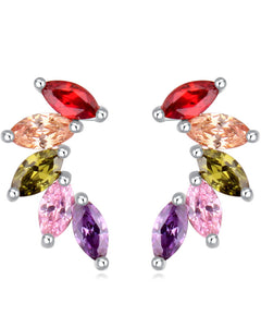 Btime Multi-Colored Swarovski Crystal Drop Earring